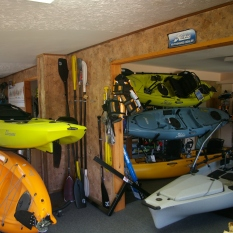 A few of the Hobie boats we have in shop